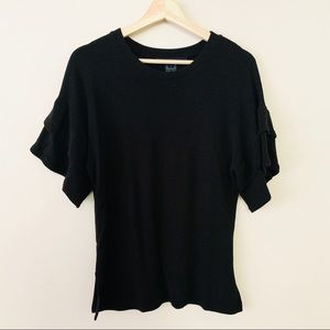 French Connection Ribbed Ruffle T Shirt